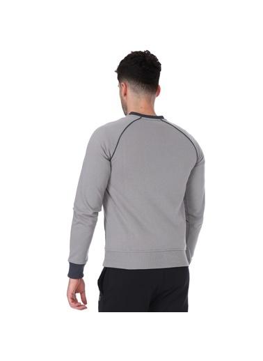 Sportive Sweblockcolor Erkek Yeşil Antrenman Sweatshirt 711376-Ptr Gri